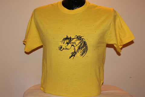 T-Shirt -- Arabian horse -- with CRYSTALS