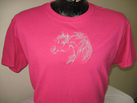 T-Shirt -- Arabian horse -- Metallic thread