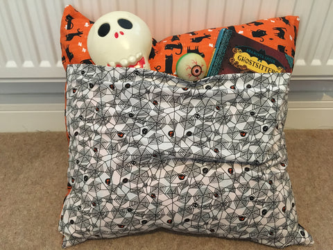 662759da92 I made it in fun halloween fabric since it's that time of year and my  daughter loves all things halloween, but this style works well in any  fabric pattern.