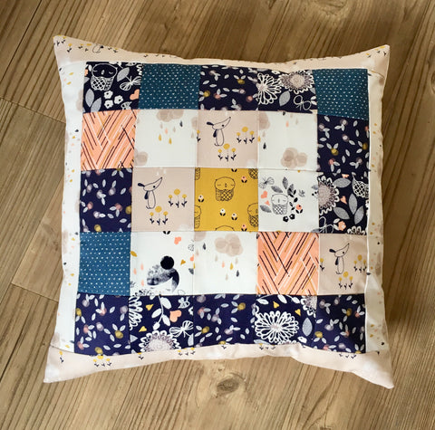 Beginners Patchwork Tutorial Simple Patchwork Cushion