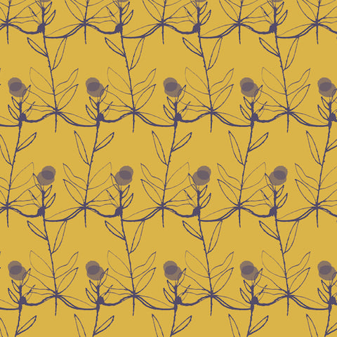 Autumn Rain yellow flowers by dashwood studio