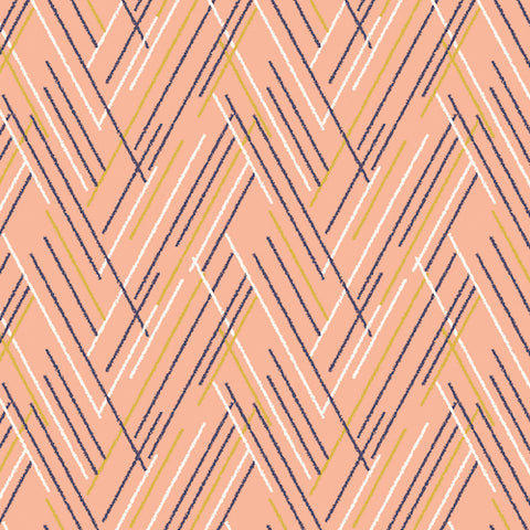 Autumn Rain pink  geometric lines by dashwood studio