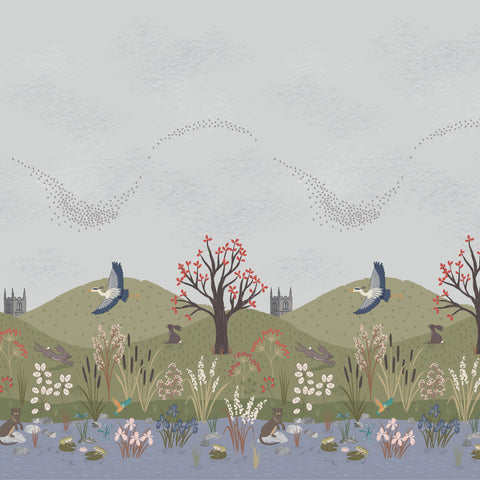 The Water Meadow - Border Panel- Lewis & Irene