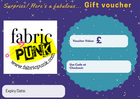 gift voucher fabric punk