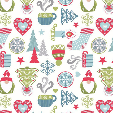 scandi and nordic inspired christmas fabric. 100% quilting cotton