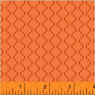 Oddment - Orange Dots - 128cm * WOF