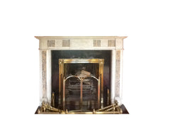 Period White Statuary Adam Design Marble Chimney Piece DES 3b *