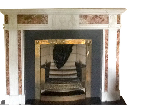 Period White Statuary & Jasper Marble Chimney Piece DES 4