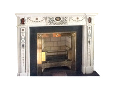 Period White Statuary Bossi Marble Chimney Piece DES 8 *