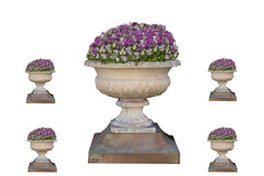 A Set Of Five Stone Urns & Bases U5