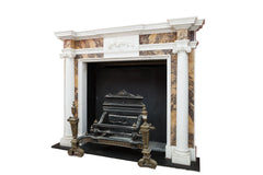 Period Georgian Sienna & White Marble Chimneypiece G223