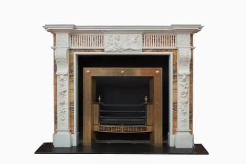 Statuary & Sienna Marble Georgian Chimneypiece. MB 85