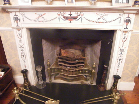 Period White Statuary Bossi Marble Chimney Piece 18th Century DES 7 *