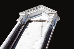 A Rare  Architectural Marble Window With Columns & Ionic Capitals Ar001