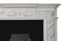 White Statuary Marble Chimney Piece W889
