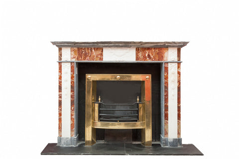 Statuary & Jasper Marble Adams Chimneypiece P 409
