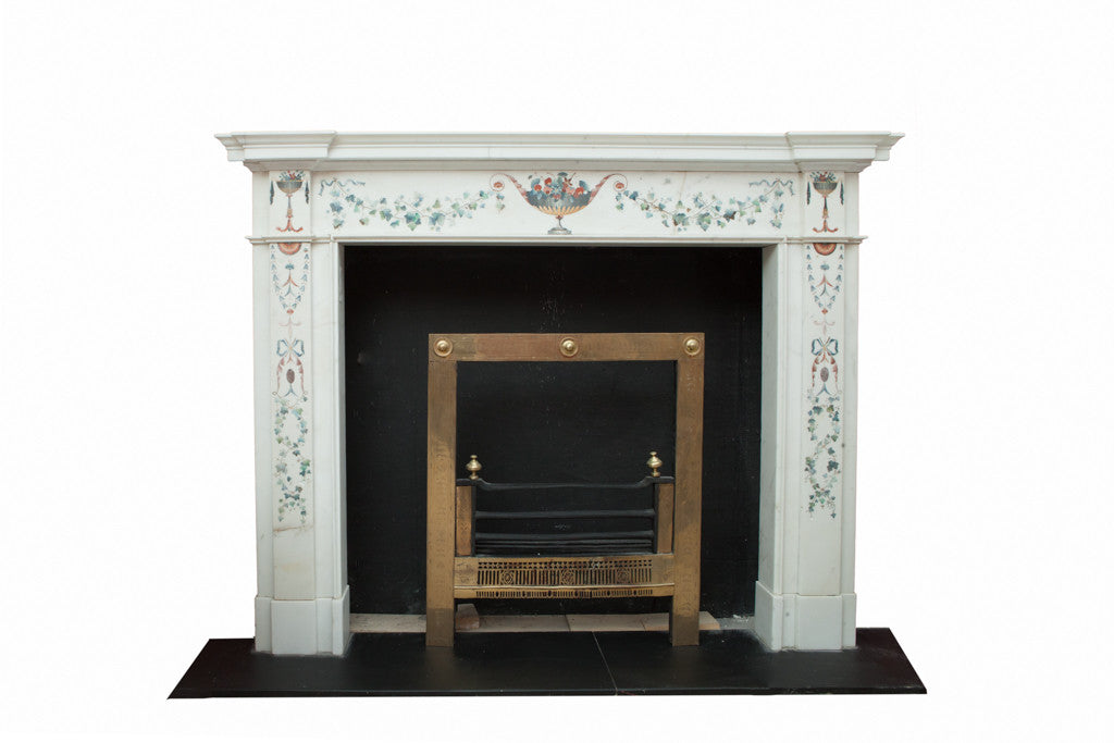 White Statuary Marble Chimney Piece W990