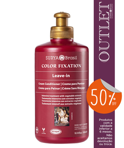 OUTLET 50% OFF Creme para Pentear Sem Enxágue Color Fixation