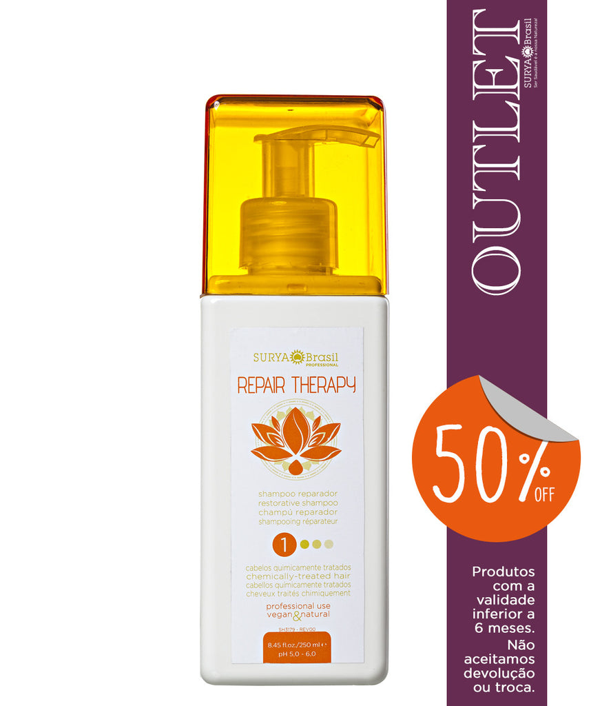 OUTLET 50% OFF Shampoo Reparador Repair Therapy Professional Home Care