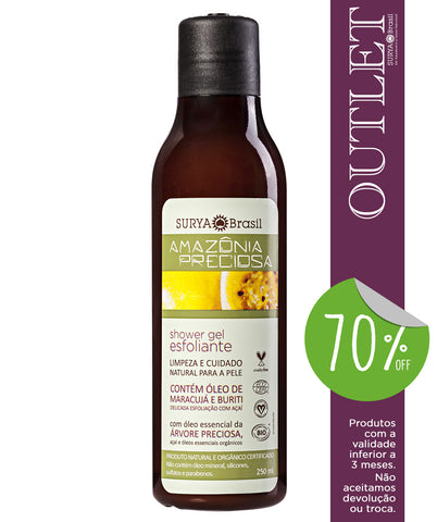 OUTLET 70% OFF Shower Gel Esfoliante Amazônia Preciosa