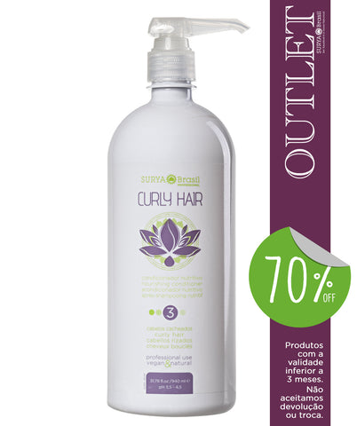 OUTLET 70% OFF Condicionador Nutritivo Curly Hair Professional