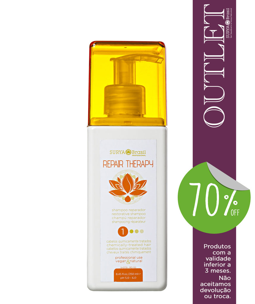 OUTLET 70% OFF Shampoo Reparador Repair Therapy Professional Home Care