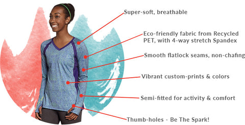 SparkFire Actire long sleeve shirt highlights