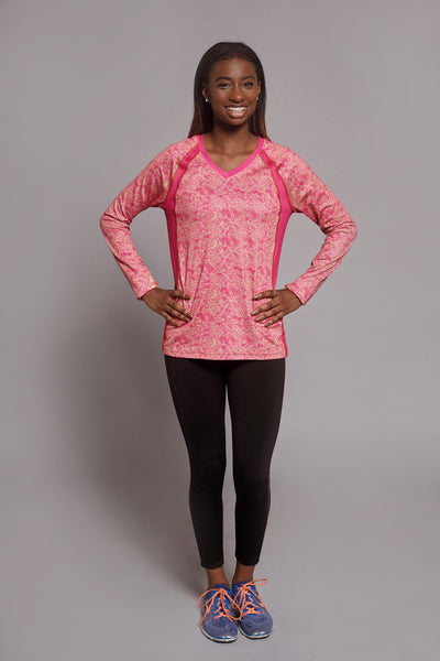 Front of the Raspberry Creative Spark long sleeve