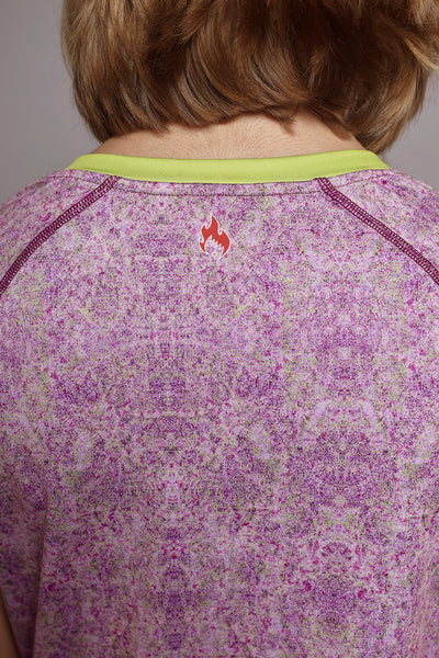 Close up of the back of the Purple Kind Spark short sleeve