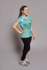 Side of the Teal Bold Spark short sleeve