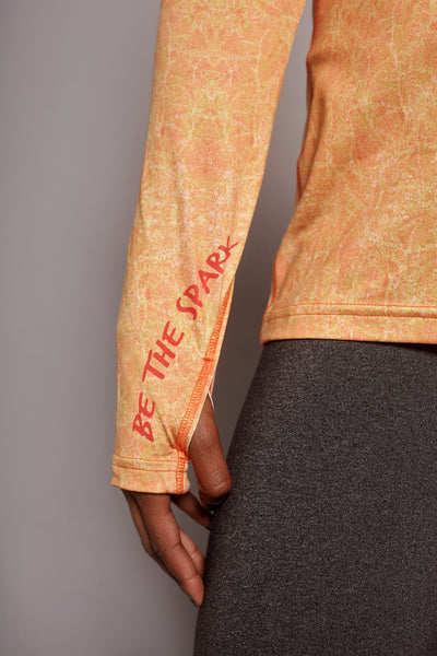 Sleeve of the Orange Fierce Spark long sleeve
