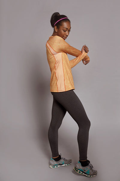Side of the Orange Fierce Spark long sleeve
