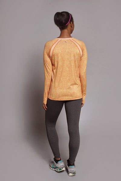 Back of the Orange Fierce Spark long sleeve