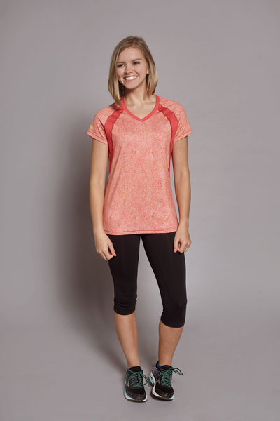 Front of the Coral Free-Spirit Spark short sleeve