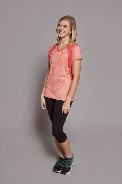 Side of the Coral Free-Spirit Spark short sleeve