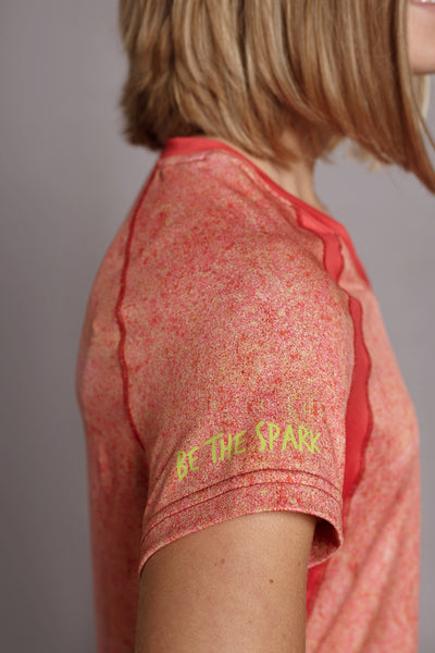 Sleeve of the Coral Free-Spirit Spark short sleeve