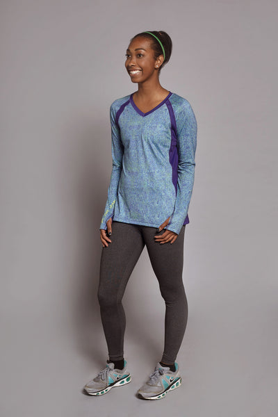 Front of the Colbalt Clever Spark long sleeve