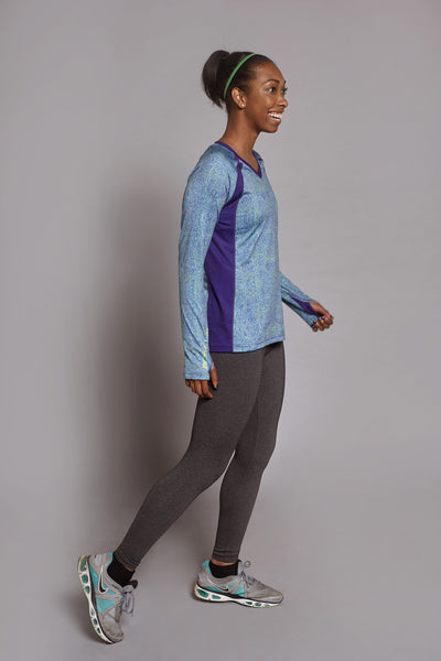 Side of the Colbalt Clever Spark long sleeve