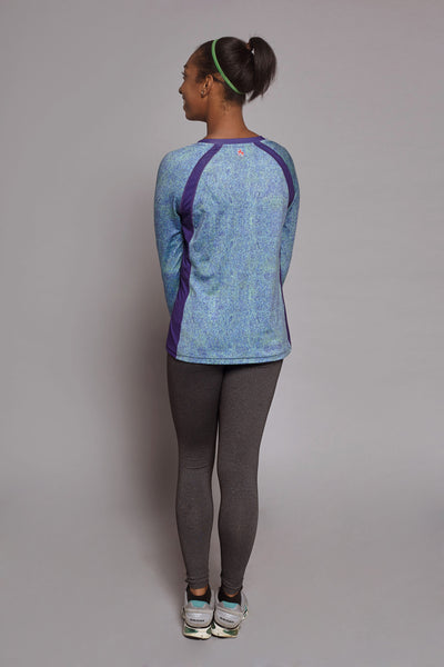 Back of the Colbalt Clever Spark long sleeve