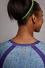 Close up of the back of the Colbalt Clever Spark long sleeve