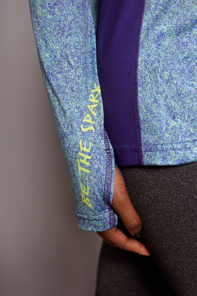 Sleeve of the Colbalt Clever Spark long sleeve
