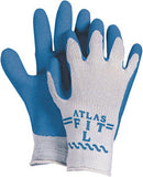 Atlas Wrinkled Latex Palm Coated Glove with Cotton/Poly Seamless Knit Liner #3385