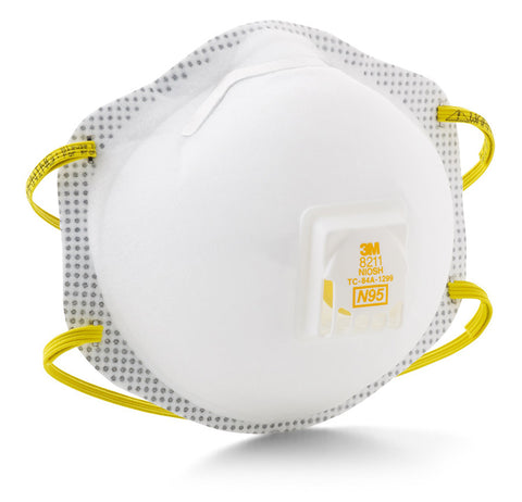 3M Disposable N95 Respirator with Exhalation Valve #8211