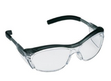 3M Nuvo Safety Glasses Translucent Gray Brow Gray Temple C #11411