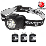 Nightstick Dual Light Headlamp, Black  #NSP-4604B