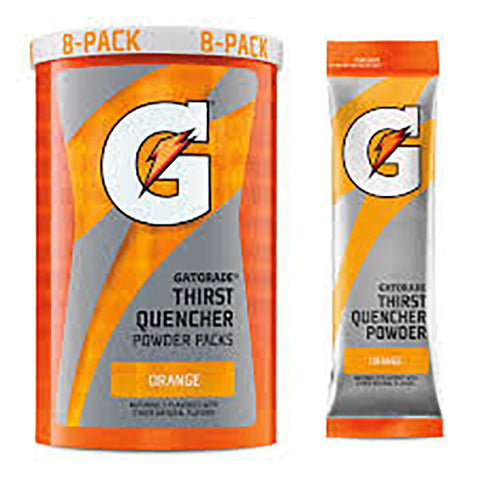 Gatorade Bulk Powder Packs, Orange, 8 cans per Case #13165