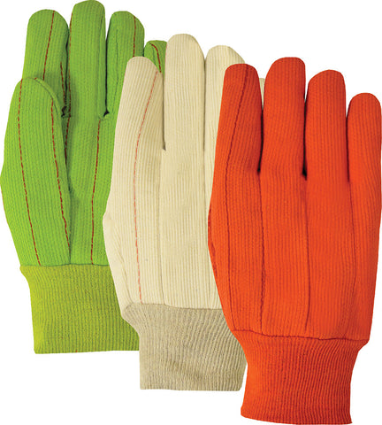 Majestic Double Palm Glove, Size Large, Lime  #3454