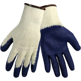 Global String Knit Dip Blue Nitrile Glove #S966