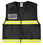 ML Kishigo Incident Command Vest, Black #4702