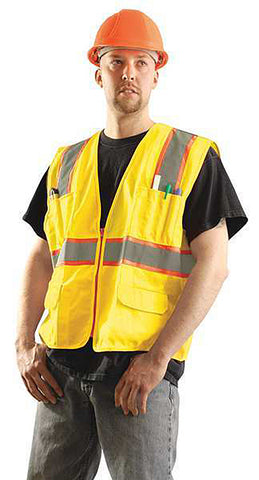 Occunomix Surveyor Safety Vest, Yellow  #LUX-ATRANS